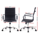 Eames Replica Office Chair Executive Mid Back Seating PU Leather - Black