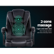 Gamex Electric Massage 2 Zone Office Computer Gaming Desk Chair + Recline