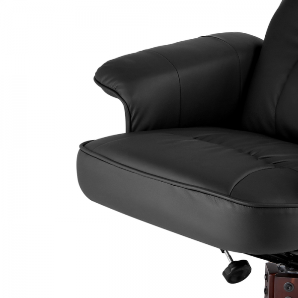 Artiss PU Leather Armchair Lounge Recliner & Ottoman in Black