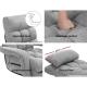 Artiss Lounge Sofa Armchair Floor Recliner Chaise in Linen Light Grey