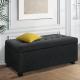 Toorak Storage Box Ottoman - Linen Charcoal