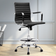 Artiss Office Chair Veer Drafting Stool Mesh Chairs Armrest Standing Desk Black