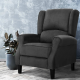 Artiss Recliner Chair Adjustable Sofa Lounge Soft Suede Armchair Couch Charcoal