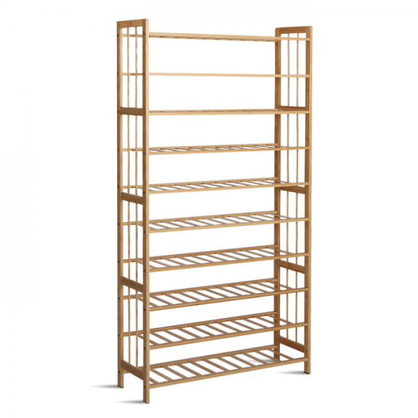 Artiss 10-Tier Bamboo Shoe Rack Wooden Shelf Stand Storage Organizer