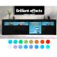 Artiss TV Cabinet Entertainment Unit Stand RGB LED Gloss 3 Doors 180cm Black