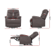 Artiss Recliner Chair Luxury Lounge Sofa Chairs Foam Padded Suede Fabric Armchair Couch Grey