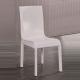 2X Espresso Dining Chair White Colour