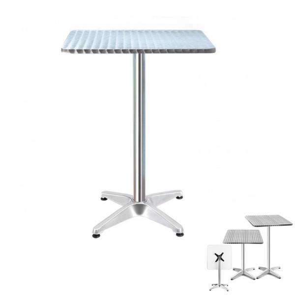 Cafe Bar Table Outdoor Furniture Height Adjustable Aluminium Pub Indoor Square Gardeon