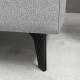 Hopper 3 Seater Fabric Sofa Light Grey Colour
