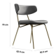 Kylie Modern Slategrey Dining Chair with Gold Legs Set of 2