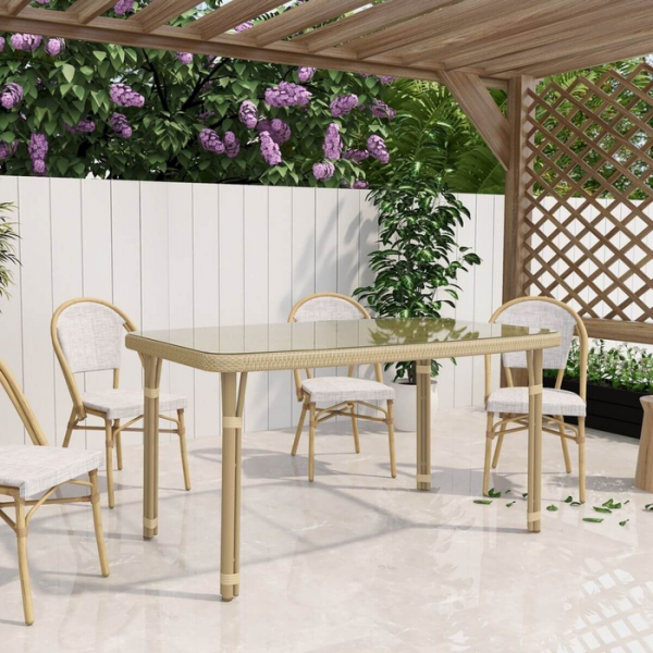 Curly Mediterranean Natural Outdoor Dining Table