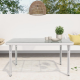 Curly Mediterranean White Outdoor Dining Table