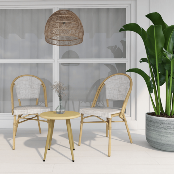 Nelly Natural 2 Seater Outdoor Balcony Set