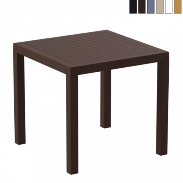 Ares 800mm Square Office Cafe Indoor/Outdoor Coffee Table