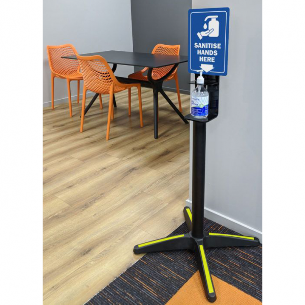 Hand Sanitiser Dispenser Stand Convertible into Table Base