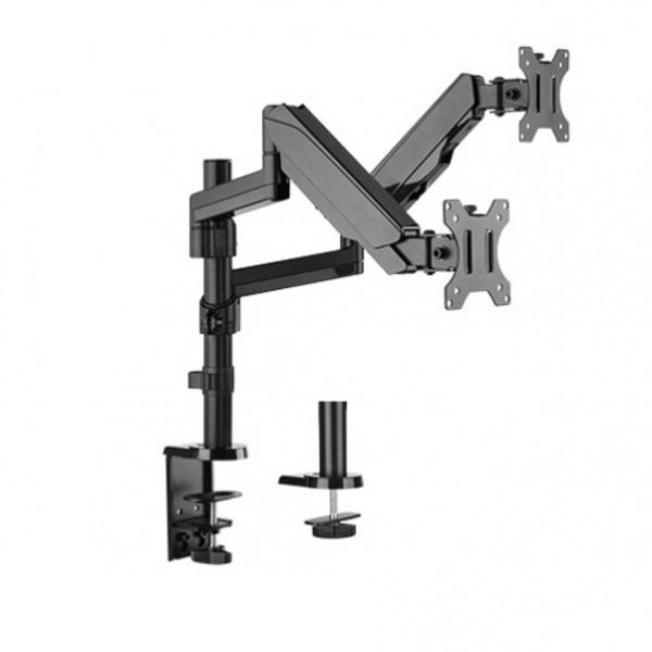 Desk Mount Dual Monitor Arm Gas Spring Monitor Bracket