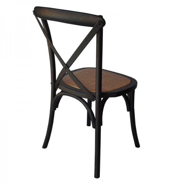 Crossroad Rattan Stackable Restaurant Cafe Dining Chair