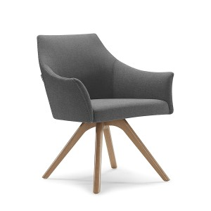 Tulip Wooden Leg Office Visitor Tub Chair