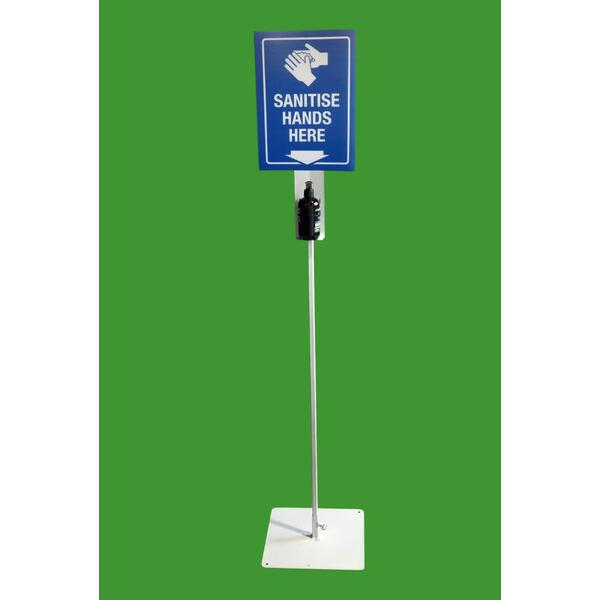 Hand Sanitiser Station Stand - Single & Dual Bottle Stands & Sign - Australian Made