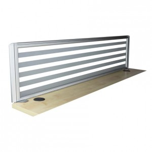 Slimline 23mm Desk Mounted Frosted Glass Screen Partitions