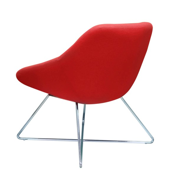 Cama Single Seater Home Office Visitor Lounge Chair Red