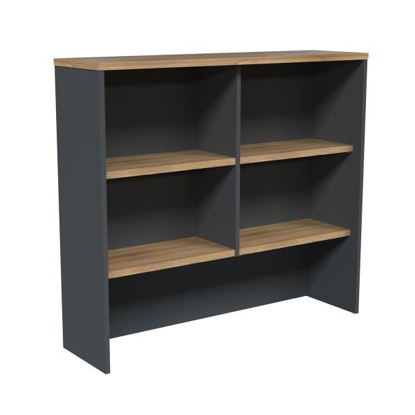 Office Hutch Storage Filing Shelves Universal Fit in Wild Oak