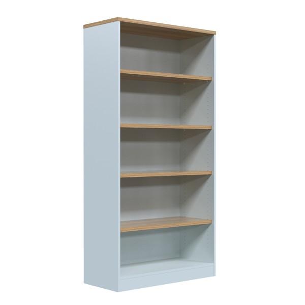 Office Storage Adjustable Shelving Bookcase Unit in Wild Oak