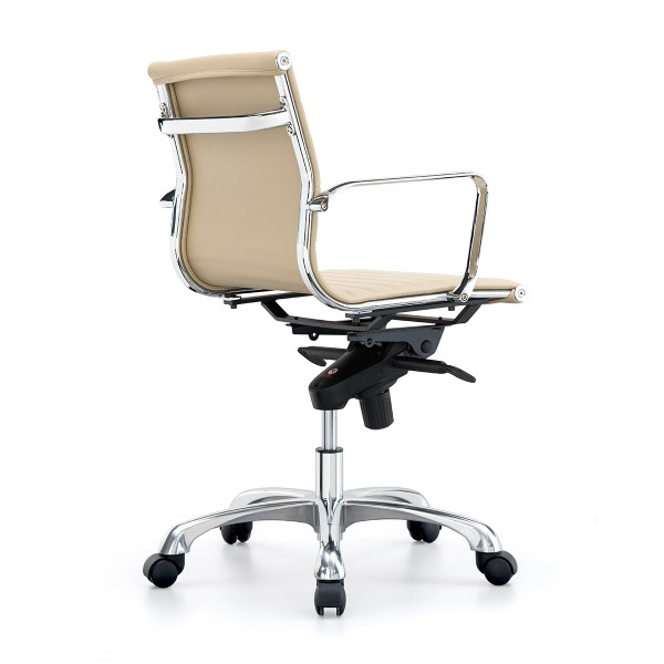 Sleek Medium Back Executive Boardroom Style Office Chair - Almond *Special Clearance Price*