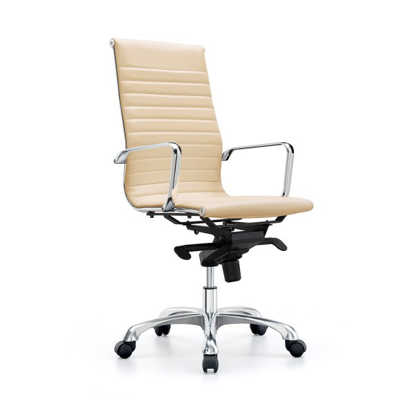 Sleek High Back Executive Boardroom Style Office Chair - Almond *Special Clearance Price*