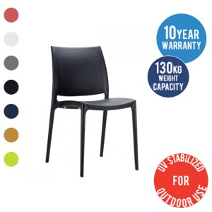 Maya Chair Cafe Poly Stackable Chairs Indoor & Outdoor Seating