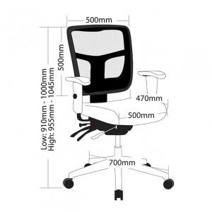 Energy Mesh Chair Fully Ergonomic Medium Back Seat Slide & Arms