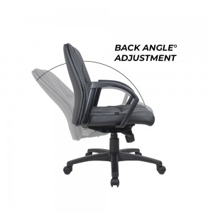 Civic Executive Office Chair Faux PU Leather Look Super Comfortable