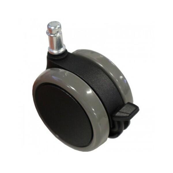 Wheels 76mm Large Heavy Duty Locking Castors x 4 with Foot Break & Push Pin