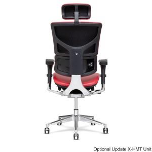 X4 Chair Genuine Premium Leather Executive Ergonomic Office Chair Auto Dynamic Variable Lumbar & Headrest Red