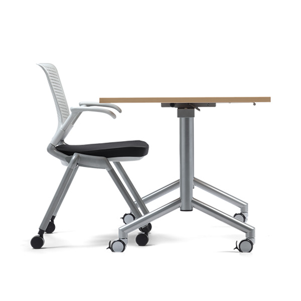 Velocity Flip Top Folding Table Mobile Office Tables Heavy Duty Metal Frame 250kg Weight Rated