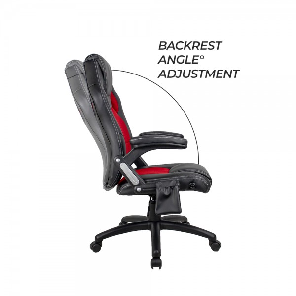 8 Point Massage Chair XR8 Gaming Racing Executive Chairs Red & Black PU + Heating System
