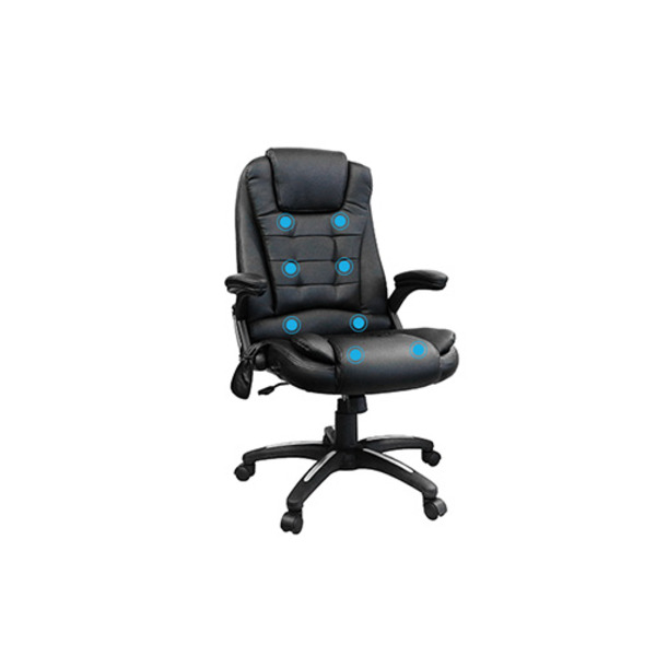 8 Point Massage Executive Office Gaming Chair Black Vibrate & Heating Functions