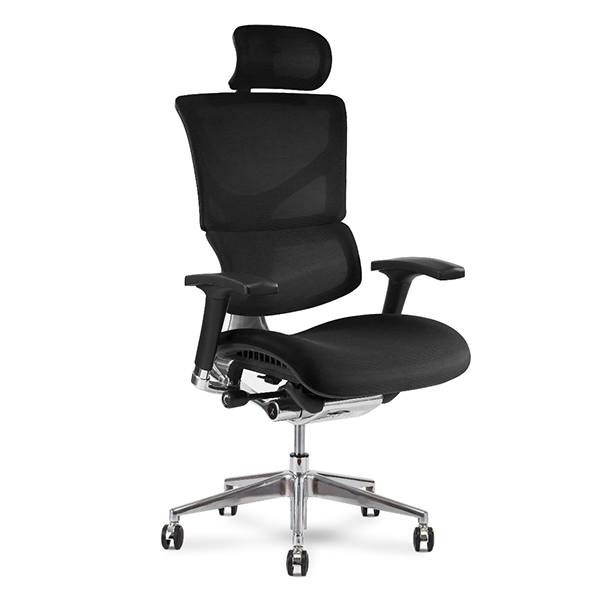 X3 Mesh Management Executive Chair Auto Dynamic Variable Lumber & Optional Head Rest
