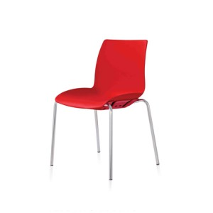 Case Hospitality Visitor Stackable 4 Leg Chair - Red