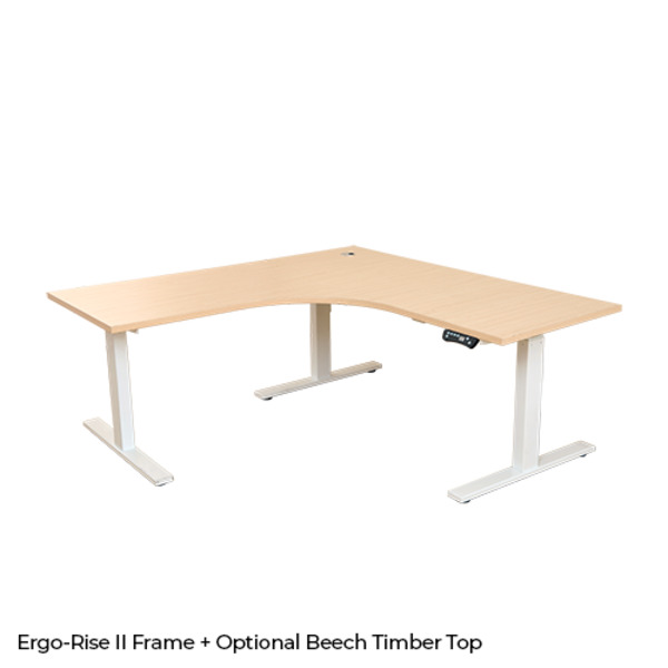 Ergo-Rise II Triple Motor Electric Corner Sit Stand Desk Frame 200kg Rated Optional Tops