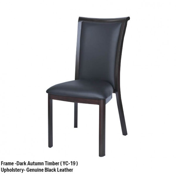 Timber Grain Look Dining Chair Aluminium Frame 4 Leg Upholstered Commercial Hospitality Chairs 170kg Weight Rated
