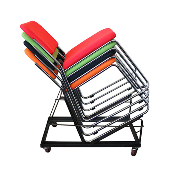 Express Sled Based Stacking Visitor Chair Heavy Duty 165kg Rated Metal Frame