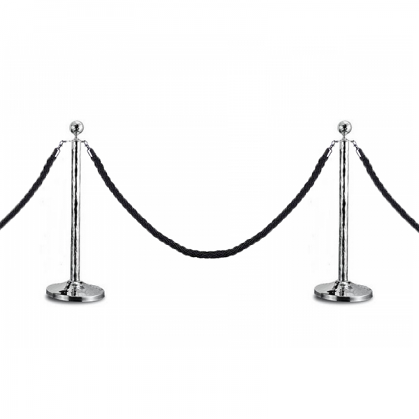 Executive Hammer Queue Stanchion Stand Barrier Pole Crowd Control Post Optional Rope