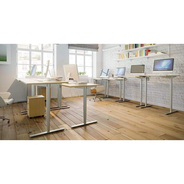 Conset 501-49 Duxle Sit-Stand Height Adjustable Desk - Heavy Duty 100kg Frame + Optional Tops