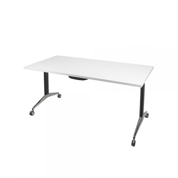 Modern Flip Table Metal Frame Mobile Folding Top Desk Table Heavy Duty 150kg Rated Optional Tops