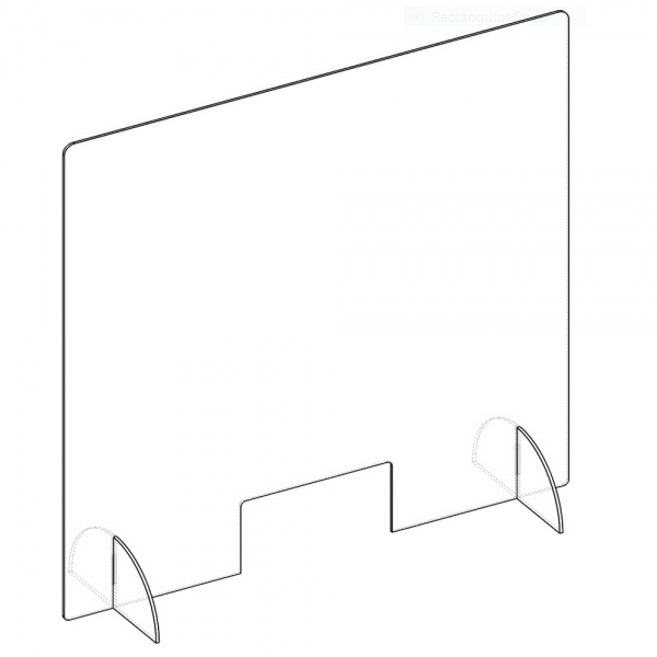 Sneeze & Cough Guard Shield Clear Acrylic Barrier Protection Screens & Stands Included