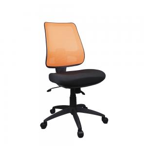 Workx Chair Ergonomic Mesh Posture Back Office Task Chairs Optional Arms Orange Mesh Back