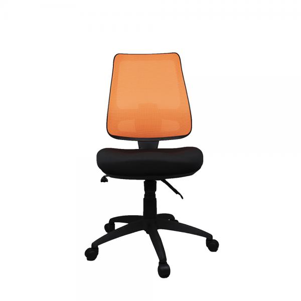 WORKX Series Ergonomic Mesh Posture Back Office Task Chair Optional Arms | Orange Mesh Back