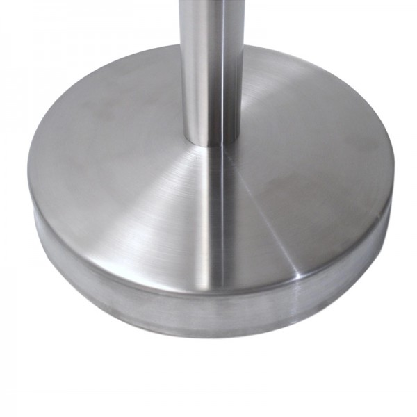 Queue Barrier Pole Retra Crowd Control Brushed Finish Bollard & Retractable 2m Belt