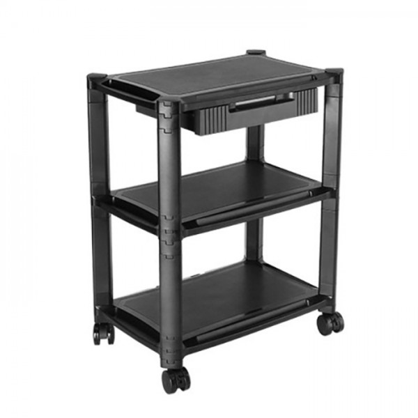 Brateck Height Adjustable Modular Smart Cart Printer Trolley Universal Use Three-Tier Shelves and Drawer